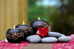 Spa candle royalty free stock image