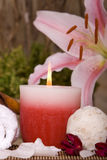 Spa candle Stock Photos