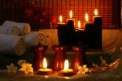 Spa candle Stock Image