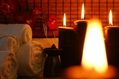 Spa candle Stock Images