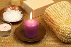 Spa candle Stock Photo