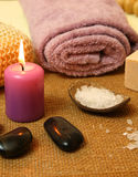 Spa candle Royalty Free Stock Photography