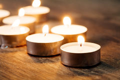 Spa Candle light Stock Photo