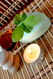 Spa candle, oils and mint soap Royalty Free Stock Image