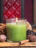 Spa Candle Still Life Stock Photo