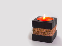 Spa candle on a wooden background Stock Image