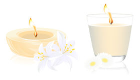 Spa candles. Illustration, AI file included royalty free illustration