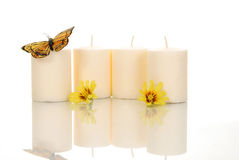 Spa Candles Royalty Free Stock Photos