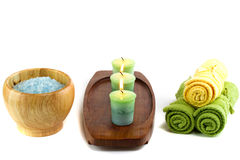 Spa with candles Stock Photo