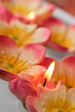 SPA candles stock image