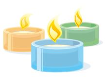 Spa candles Royalty Free Stock Image