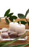 SPA Candles stock images