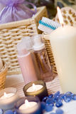 Spa candles composition Royalty Free Stock Images