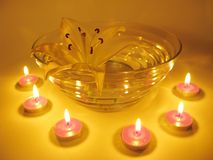 Spa candles flowers Stock Image