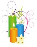 Spa candles Stock Photos
