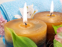 Spa candles Royalty Free Stock Photo