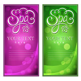 Spa card Stock Photo