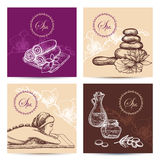 Spa Cards Set Royalty Free Stock Photography