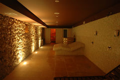 Spa center. With hot sauna Royalty Free Stock Photos