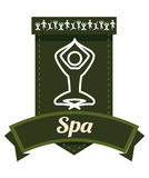 Spa center design. Spa center concept with healthy icons design, vector illustration 10 eps graphic Royalty Free Stock Images