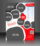 Spa Center Flyer Design. Spa Center Flyer & Poster Template Design Stock Photos