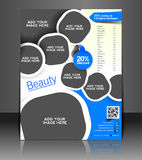 Spa Center Flyer Design Royalty Free Stock Photos