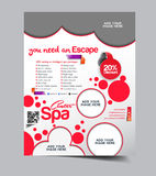 Spa Center Flyer Royalty Free Stock Images