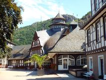Spa center (front). Bad Muenster am Stein, Germany 2014 Royalty Free Stock Photography