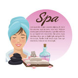 Spa center and healthy lifestyle design Stock Photography