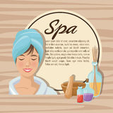 Spa center and healthy lifestyle design Royalty Free Stock Photo