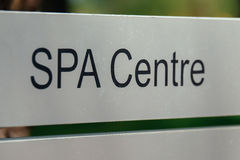Spa centre sign Stock Photo