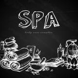 Spa Chalkboard Background Stock Photo