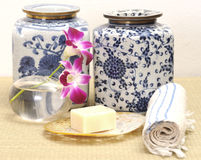 SPA and chinese porcelain Royalty Free Stock Image