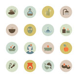Spa circle icon Stock Images