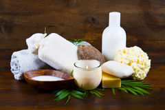 Spa coconut products Stock Photo