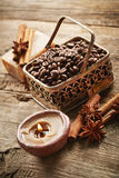 Spa with coffee beans Stock Photography