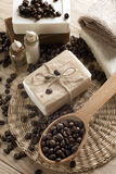 Spa coffee soap Royalty Free Stock Photo