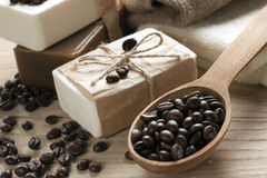 Spa coffee soap Stock Photo