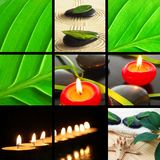 Spa collage. Spa or wellness concept  with images in collage Stock Photography