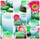 Spa Collage. Collage items for spa and aromatherapy royalty free stock images