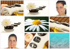 Spa collage. Beautiful close up spa collage Stock Photography