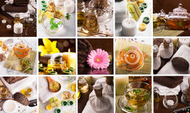 SPA collage. Collage from different photoes of SPA Royalty Free Stock Images