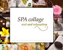 SPA collage Royalty Free Stock Image