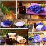 Wellness and spa collage Royalty Free Stock Images