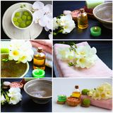 Wellness and spa collage Royalty Free Stock Photos