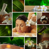 Spa collage. Spa theme  photo collage composed of different images Royalty Free Stock Images