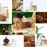 Spa collage. Spa theme  photo collage composed of different images Stock Photo