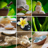 Spa collage. Spa theme  photo collage composed of different images Stock Photography