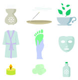 Spa color icon set Stock Image