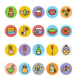 SPA Colored Vector Icons 2 Stock Photo